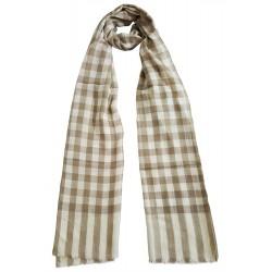 Mehrunnisa Handcrafted Pure Cashmere Pashmina Wool Stole Wrap – Unisex (GAR2112, Beige)