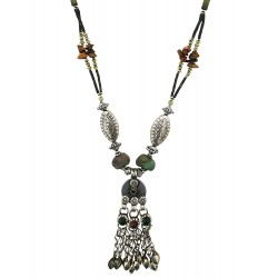 Mehrunnisa Afghani Oxidised Tribal Coin Necklace for Girls (JWL2419)
