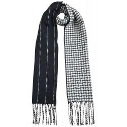 Mehrunnisa Double Sided Plaid Woolen Long Scarf / Muffler – Unisex (White,GAR2202)