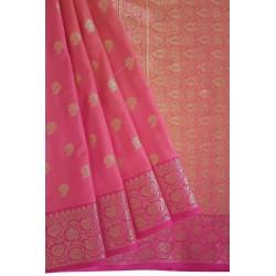 Mehrunnisa Assam Silk Butti SAREE With Copper Zari (Pink, GAR2818)