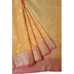 Mehrunnisa Assam Silk Butti SAREE With Copper Zari (Orange, GAR2819)