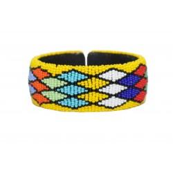 Zulu Beaded Bracelet - Yellow