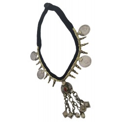 Afghani Old Tribal Kuchi Coin Silver Necklace