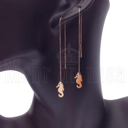 14 Karat Gold Motif Earrings