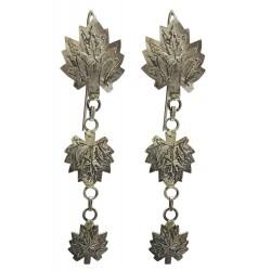Kashmiri Sterling Silver Triple Chinar Earrings