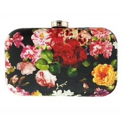 Floral Quilted Box Clutch Day & Evening Bag