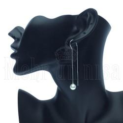 Trendy Modern Motif Silver Earrings